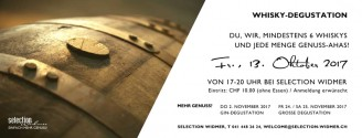 Whisky-Degustation // 13. Oktober 2017