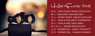 Kurz + kackig: Das sind unsere Herbst-Events 2018