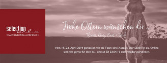 OSTERPAUSE // 19. BIS 22. APRIL 2019