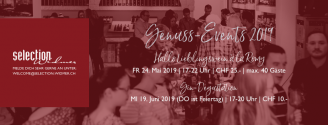 Genuss-Events // 24. Mai + 19.  Juni 2019