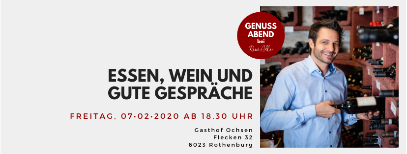 Genussabend bei René Adler // 7. Februar 2020