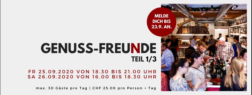 GENUSS-FREUDE // 25.+26. September 2020