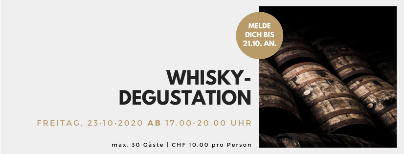 Whisky-Degustation // 23. Oktober 2020