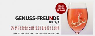 ABGESAGT - GENUSS-FREUDE // 30.+31. Oktober 2020
