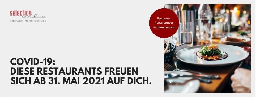 Drinnen oder draussen? Ab 31. Mai 2021 öffnen die Restaurants wieder.